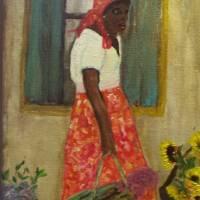 C:\Rebecca femme de fleur Art Prints & Posters by Linda Meaux