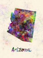 Arizona US state in watercolor
