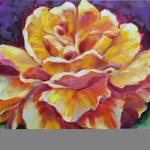 """Golden Yellow Rose 2 oil large"" by BCArt"
