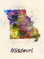 Missouri US state in watercolor
