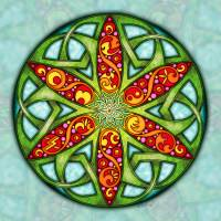 Celtic Summer Mandala Art Prints & Posters by Kristen Fox