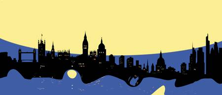 London Skyline Retro Modern Decor