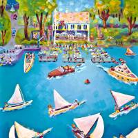 Perrysburg Boat Club Art Prints & Posters by Michael Ives