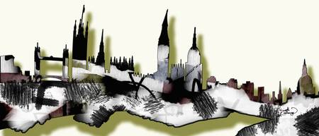 Abstract London Skyline Design