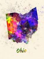 Ohio US state in watercolor