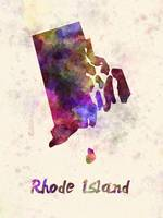 Rhode Island US state in watercolor