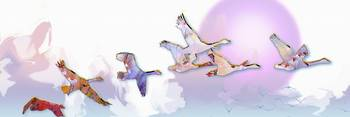 Geese in Flight Modern Decor