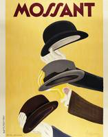 Vintage Advertising Poster - Mossant Hats