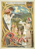 Vintage Advertising Poster - Royat