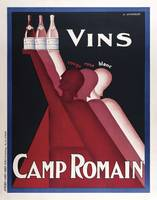 Vintage Advertising Poster - Vins Camp Romain