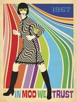 In Mod We Trust - Retro Fashion Poster