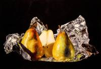Two And Half Pears On Foil