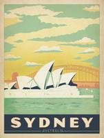 The Sydney Opera House, Sydney, Australia - Retro