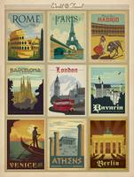 World Travel Collection I Retro Travel Poster