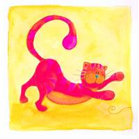 Pink and Purple Cat