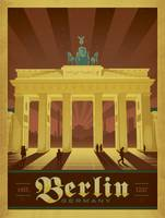 Berlin, Germany - Retro Travel Poster