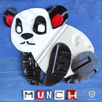 Munch the Panda License Plate Art