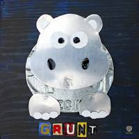 Grunt the Hippo License Plate Art