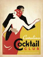 Catalina Cocktail Club Retro Poster