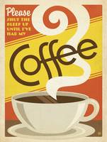 Coffee Addict Retro Poster