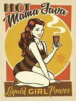 Hot Mama Java Retro Poster