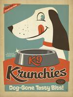 K-9 Krunchies - Retro Poster