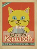 Kitty Krunch - Retro Poster