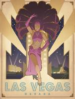 Las Vegas, Nevada - Retro Travel Poster