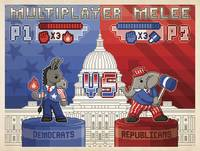 Multiplayer Melee 2012 - Retro Political Poster
