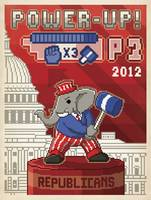 Power Up 2012, Republican Elephant - Retro Politic