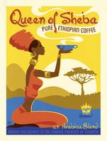 Queen of Sheba Coffee Retro Advertisement