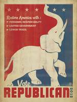 Restore America, Vote Republican - Retro Political