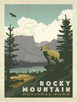 Rocky Mountain National Park - Retro Travel Poster