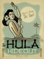 The Hula Hideout Retro Poster