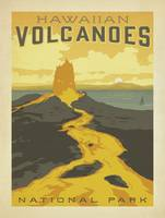 Hawaiian Volcanoes National Park Travel Poster