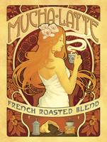 Mucha Latte - French Roasted Blend Coffee - Retro