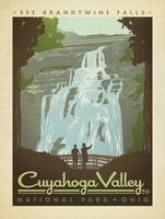 Cuyahoga Valley Retro Travel Poster