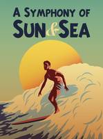 A Symphony of Sun and Sea Retro Travel Poster