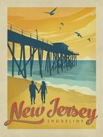New Jersey Retro Travel Poster
