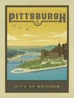 Pittsburgh Retro Travel Poster