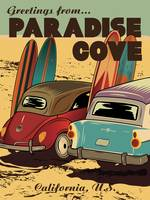 Paradise Cove Retro Travel Poster