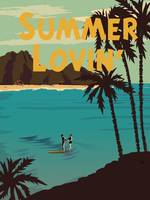 Summer Loving Retro Travel Poster
