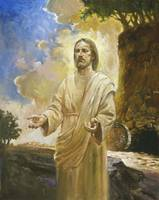 Jesus In Front Of Cave