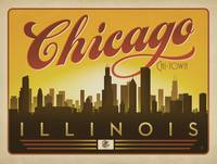 Chi-Town Retro Travel Poster