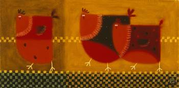 Red Chickens