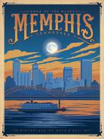 Memphis, Tennessee Retro Travel Poster