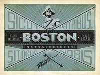 Boston Retro Travel Poster