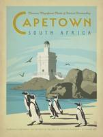 Capetown, South Africa Retro Travel Poster