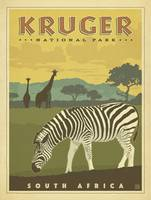Kruger National Park Retro Travel Poster