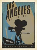 Los Angeles, California Retro Travel Poster